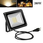 1x 30W Warm White LED Flood Light Outdoor Security Garden Lamp With US PLUG