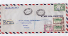 jamaica  1948 large  registered air mail stamps cover ref r15522