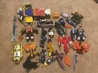 LOT OF POWER RANGER TOYS, MIXED PIECES, 16 FIGURES, ETC.