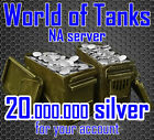 World of Tanks - 20 000 000 silver - NA server