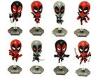 Exclusive Marvel Original Mini Deadpool Bobble Head 8 pk Chimichanga Truck Box