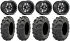 "Fuel Maverick Beadlock 14"" (4+3) 27"" Mud Lite XL Tires Yamaha Viking Wolverine"