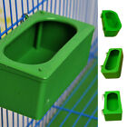 Green Bird Parrot Food Water Bowl Pigeons Pet Cage Cup Feeder Feeding Supplies