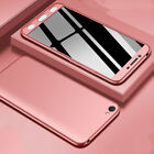 360° Full Cover Case + Tempered Glass Hard PC For OPPO F9 F7 F5 F3 A59 A37 R15