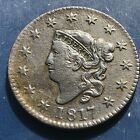 1817 Large Cent Coronet Head One Cent 1c High Grade #9931