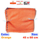 10x - 45x60cm ORANGE NET SACK BAGS MESH FRUITS VEGETABLES WOOD CARROT POTAT FAST