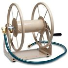 Liberty Garden 200ft Water Hose Reel Wall Mount Manual Crank Holder Storage Lawn