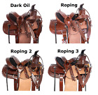 Used Western Saddle 12 13 Kids Rough Out Ranch Roping Leather Horse Tack Set