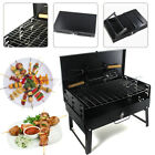 Folding BBQ Charcoal Barbecue Grill Portable Outdoor Picnic Cooking Stove+Gloves