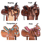 Youth Western Saddle 13 12 14 in Pleasure Trail Children Kids Horse Tack