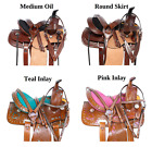 Barrel Saddle Used 10 12 13 Western Racing Racer Leather Trail Horse Pony Tack