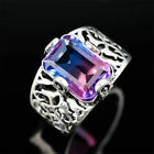 Turkish Handmade Jewelry Silver Purple Amethyst Men Women Ring SIZE 5-10