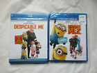 Lot of 2~Dispicable Me 1 & 2~Blu-Ray - DVD - Digital HD~New~Free Ship~LBDVP