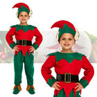Boys Deluxe Elf Costume Fancy Dress Cute Santa's Little Helper Christmas Outfit