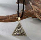 EYE OF HORUS PYRAMID UNISEX PENDANT NECKLACE ILLUMINATI RA EGYPT LUCKY CHARM