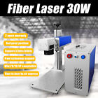 MCWlaser 30W MOPA Fiber Laser Marking Machine & Rotary Aluminum Black Color
