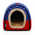 Pet Cat Igloo Bed Small Dog Soft Bed Met House Waterproof Covered 1PC (S,M,L,XL)