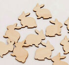 Wooden Plywood Rabbit Cut Out Shape Easter Gift Tags
