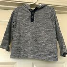 Old Navy Toddler Boy Pullover Hooded Terry Henley 2T California Style