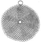 Stainless Steel Cast Iron Skillet Cleaner Chainmail Cleaning Scrubber With Hangi