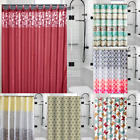 "13PC SET CHIC BATHROOM BATH PRINTED FABRIC SHOWER CURTAIN 70"" X 72"" NEW DESIGNS"