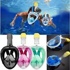 Full Face Diving Snorkel Mask Swim Snorkeling Water Sports Kids Adults S/M L/XL