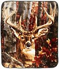 Northpoint Throw Blanket Ten Point Buck Deer Hunting Lodge Rustic Cabin 50x60