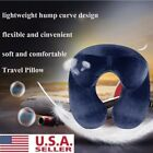 US Inflatable Travel Portable Pillow Neck Support Head Rest Airplane Car Cushion