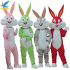 Easter Rabbit Bugs Bunny Mascot Costume Animal Cosplay Party Suit Dress Adults