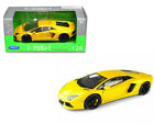 Lamborghini Aventador LP700-4 Yellow 1/24 Scale Diecast Car Model By Welly 24033