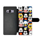 Cartoon Mickey Mouse Flip Wallet Card Holder PU Leather Case For Samsung Galaxy