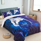 Galaxy Animal Duvet Cover Set Twin Full Queen King Size Tiger Bedding Pillowcase for sale  Shipping to Canada