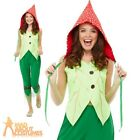 Adults Toadstool Pixie Costume Garden Gnome Fairy Tale Ladies Fancy Dress Outfit