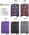 5 Cities Lightweight 4 Wheel Hand Cabin & Hold Check In Suitcase Luggage & Sets