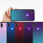 Back Plus Cover Protective Case iPhone Color 7 for Clear X 8 Gradient Change 7S