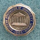 American Association of University Women pinback  Leavens terling silver