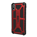 UAG Urban Armor Gear Monarch Cases for Apple iPhone X, XS, XR, XS Max (Crimson)