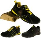 Mens Leather NORTHWEST TERRITORY Work Safety Toe Cap Trainers Shoes Sz Size 6-12