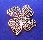 Vintage Gold Tone Lucky Shamrock / 4 Leaf Clover Brooch by Sarah Coventry 1960's