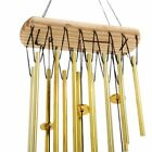 Wind Chimes Bells Portable Relaxing Wood Copper Silvery Sound Garden Home Decor