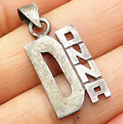MEXICO 925 Sterling Silver - Vintage DONNA Name Drop Pendant - P5223