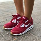 NIB WOMENS NIKE AIR MAX 90 RED CRUSH WHITE ATHLETIC RUNNING TRAINING SHOES