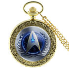 STAR TREK MENS POCKET WATCH CHAIN ANTIQUE RETRO SKELETON VINTAGE WATCHES UNISEX