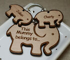 PERSONALISED GIFTS FOR HER CHRISTMAS GIFT BIRTHDAY MUMMY MUM ELEPHANT KEYRING