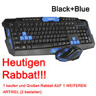 2.4GHz Wireless Gaming Tastatur und Maus Set Funk Kabellos Keyboard Mit Mauspad