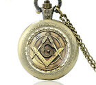NEW MASONIC POCKET WATCH CHAIN STEAMPUNK FREEMASONS PYRAMID ILLUMINATI WATCHES