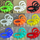 1 Pair Colorful Soft Silicone Flexible Ear Tunnels Plugs Gauges Eyelets Earlets  image