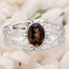 Natural Smoky Quartz 925 Sterling Silver Ring Jewelry Size 6-9 DGR6011_A