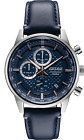 AUTHORIZED DEALER Seiko SSB333 Men's Chronograph Blue Dial Leather Strap Watch