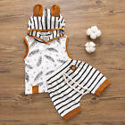 2pcs Toddler Baby Boy Girl Hooded T-shirt Tops+Shorts Pants Outfits Clothes US